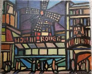 Painting of Moulin Rouge, signed Rouault
