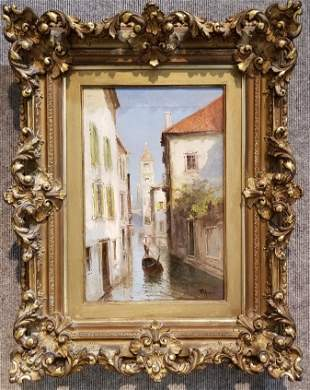 Painting by Virgilio Ripari(Italian 19tn century)