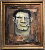 """Robert Loughlin, """"Tough Man"""" painting, c.1993"""