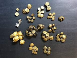 Buttons, including Civil War & other military examples