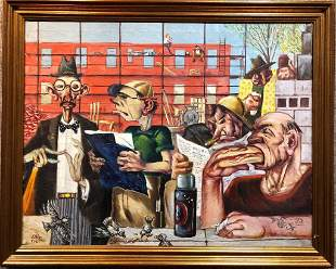 Painting of Union lunchtime by Paul Muller