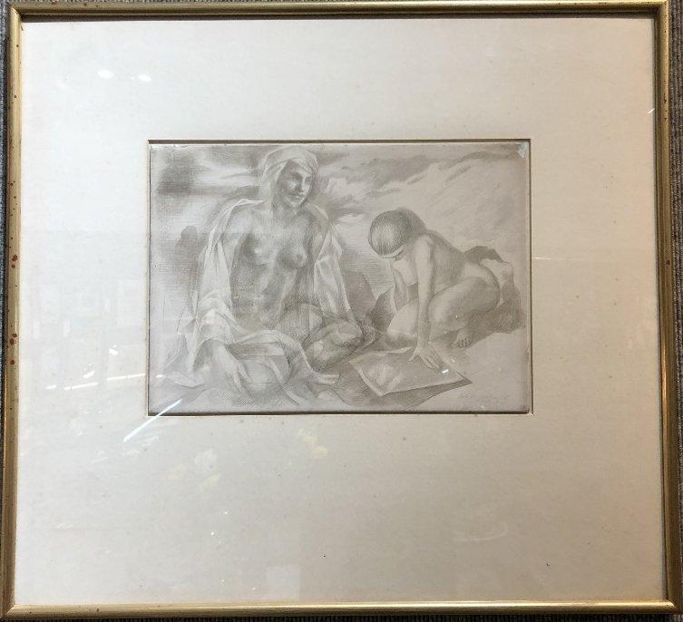 Xavier Gonzalez drawing of two women