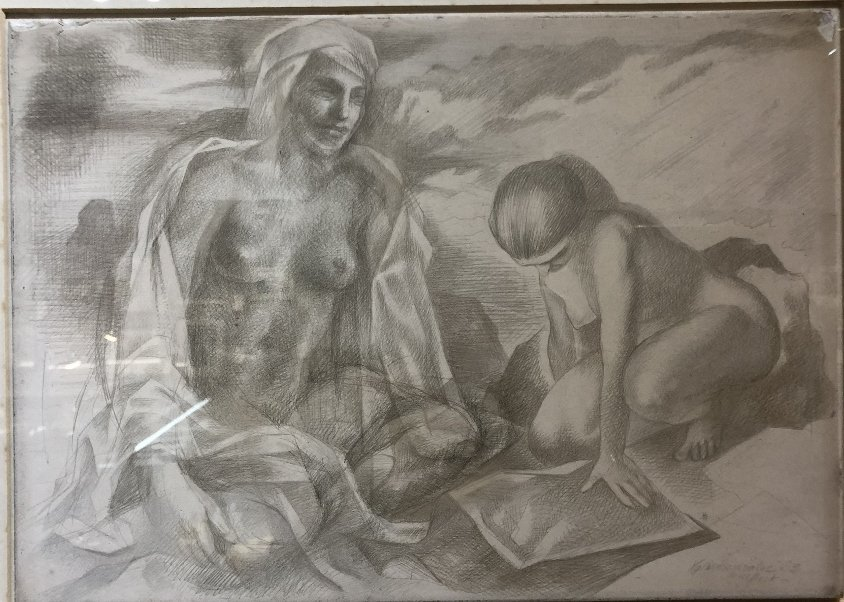 Xavier Gonzalez drawing of two women - 2