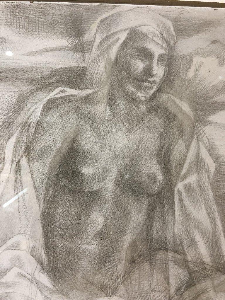 Xavier Gonzalez drawing of two women - 3