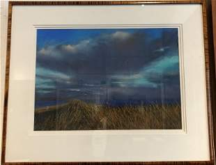 """Pastel of landscape, possibly signed """"Wolf 93"""""""