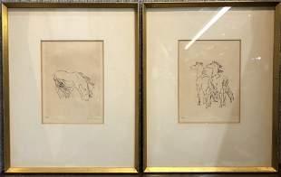 Two pony lithos by Renee Sintenis, c.1935