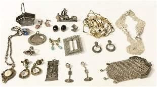 Eighteen silver items-various estates,12.5 t.oz