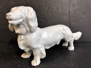Meissen porcelain dachshund, c.1950