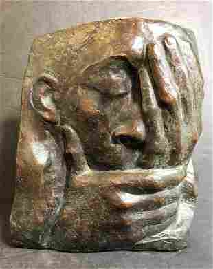 "Bronze, ""Die Klage"" by Kathe Kollwitz. Noack Fdry"