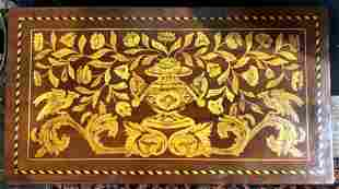 Dutch marquetry game table, c.1900