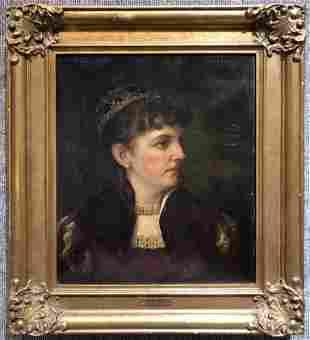Portrait of Julia Varnum by F.A.Francis 1884