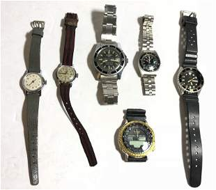 Six miscellaneous watches