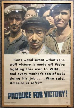 1942 poster by Margaret Bourke-White, WW2