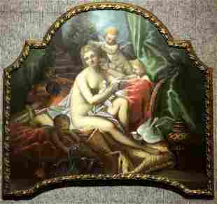 Painting on board of Venus with Cupids