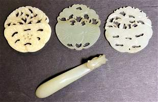 Four pieces of Chinese jade