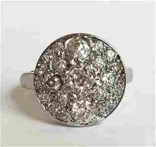 14k white gold and diamond ring, circa 1925
