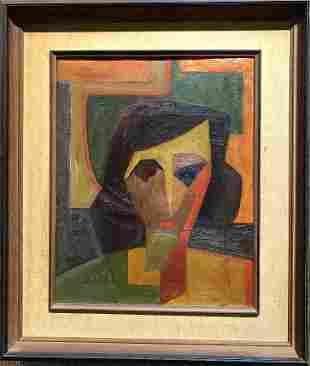 Oil ptg portrait, studio of Albert Gleizes, c.1950
