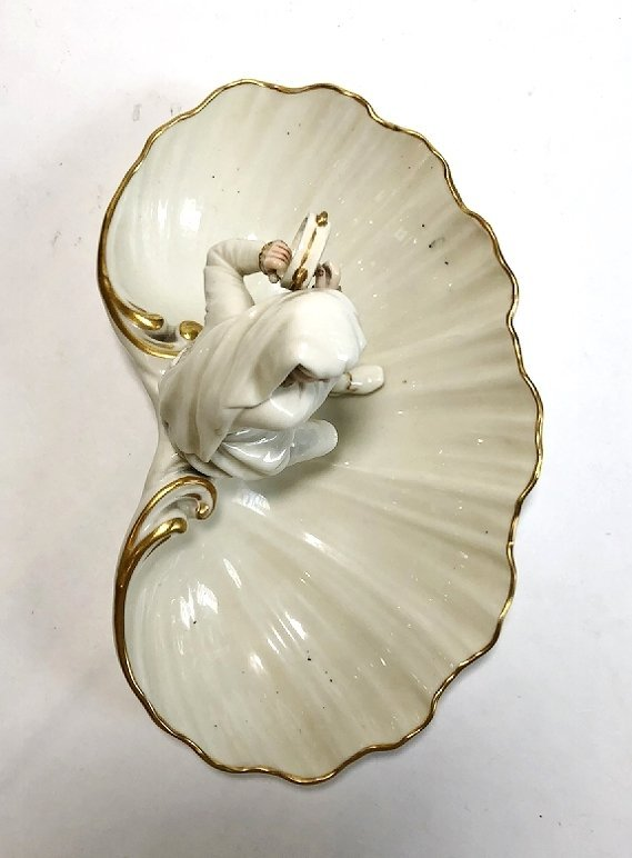 Pair of Royal Worcester shell dishes, c.1900 - 10