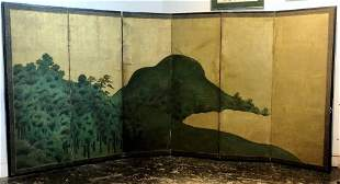 Large Japanese screen, 18th/19th century
