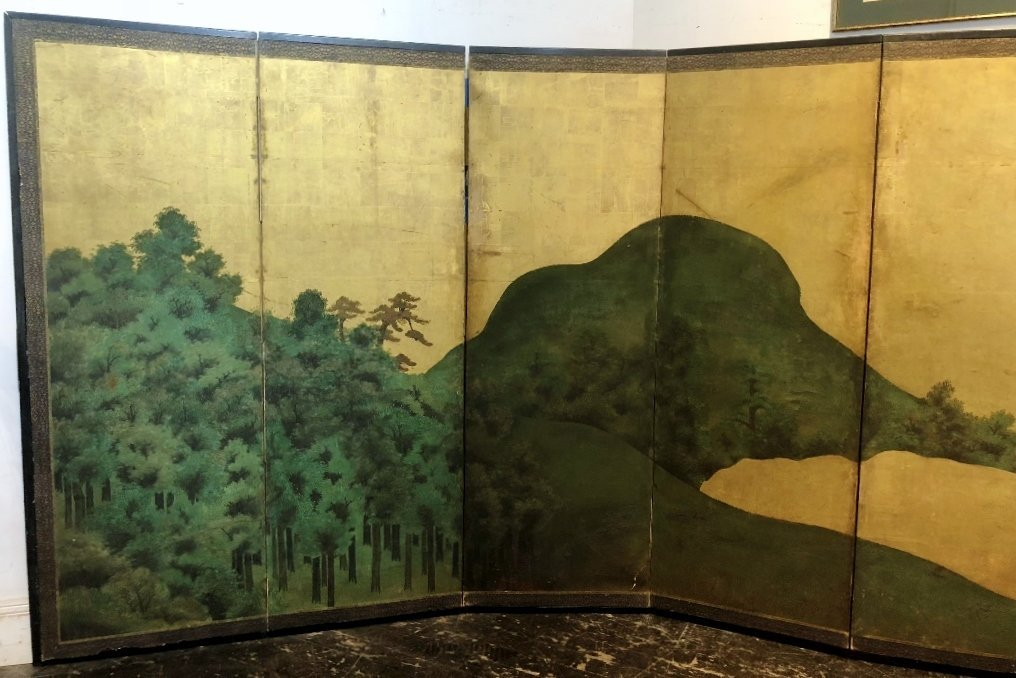 Large Japanese screen, 18th/19th century - 2