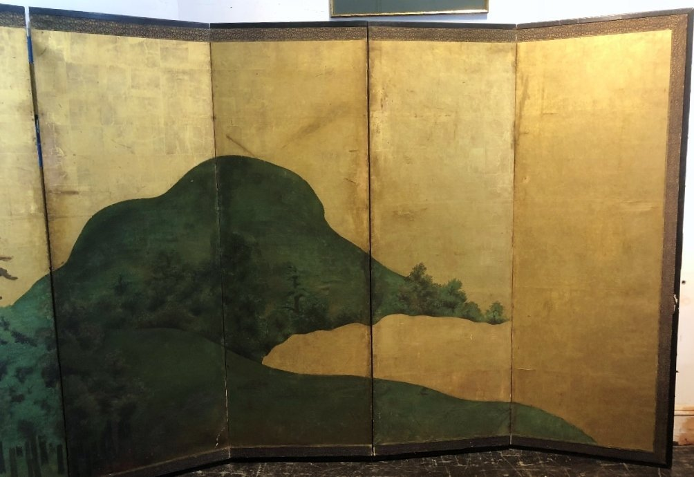 Large Japanese screen, 18th/19th century - 3