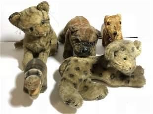 Five Steiff toy animals, c.1930