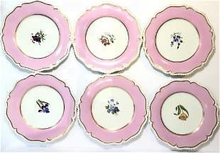 Flight Barr and Barr set of 6 flower dessert plates