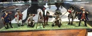 Diorama of 18th/19th cen European military figures