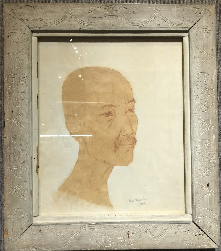 Watercolor of Indonesian,Theo Meier (1909-1982)