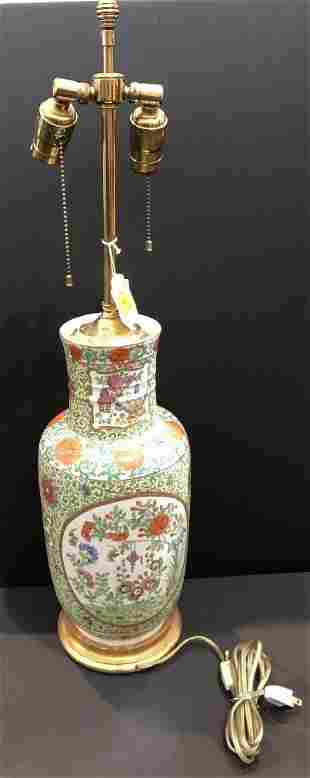 Chinese lamp with Sotheby label, early 20thc