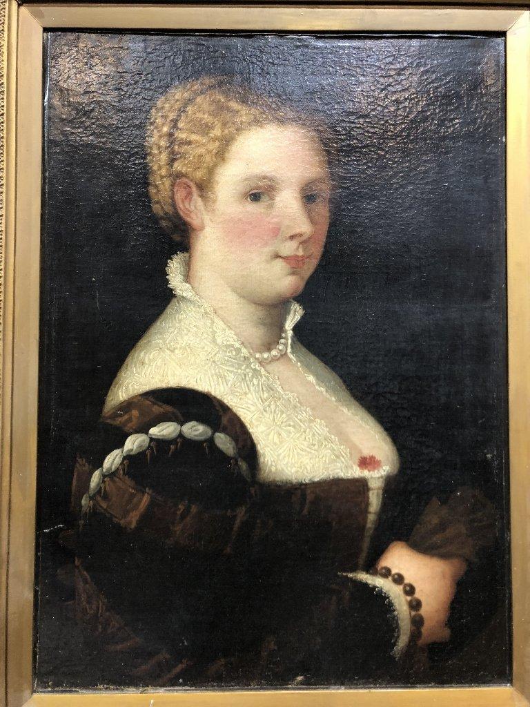 Portrait painting of 16th century woman, c.1850 - 2