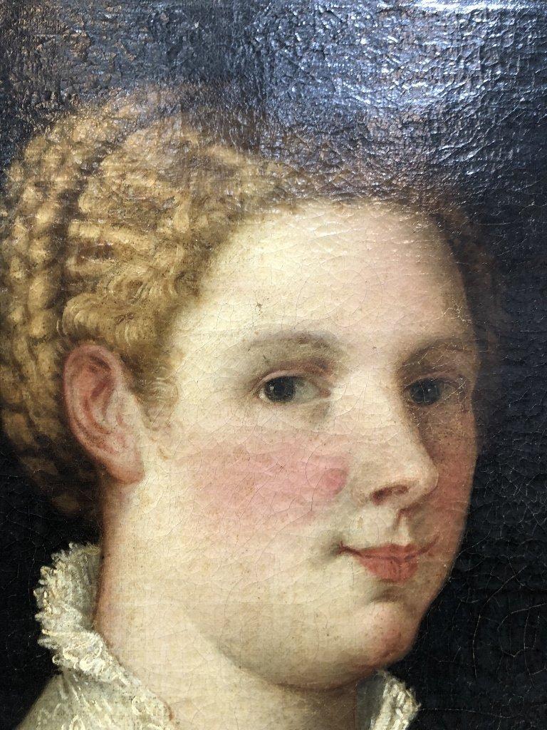 Portrait painting of 16th century woman, c.1850 - 3