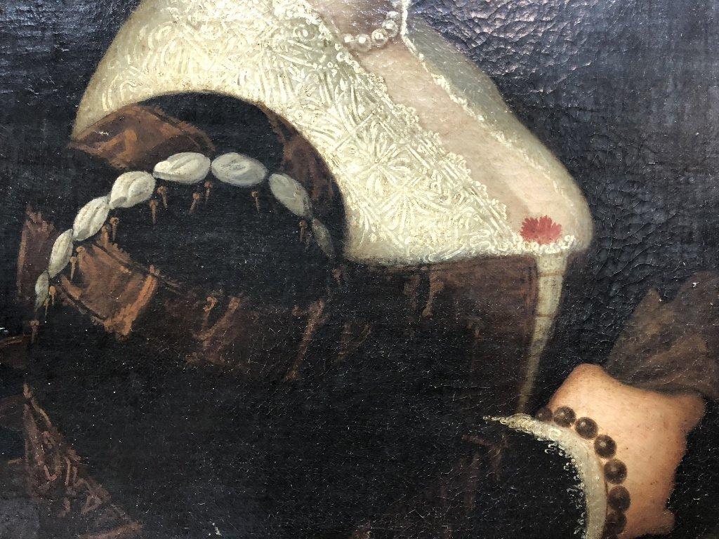 Portrait painting of 16th century woman, c.1850 - 4