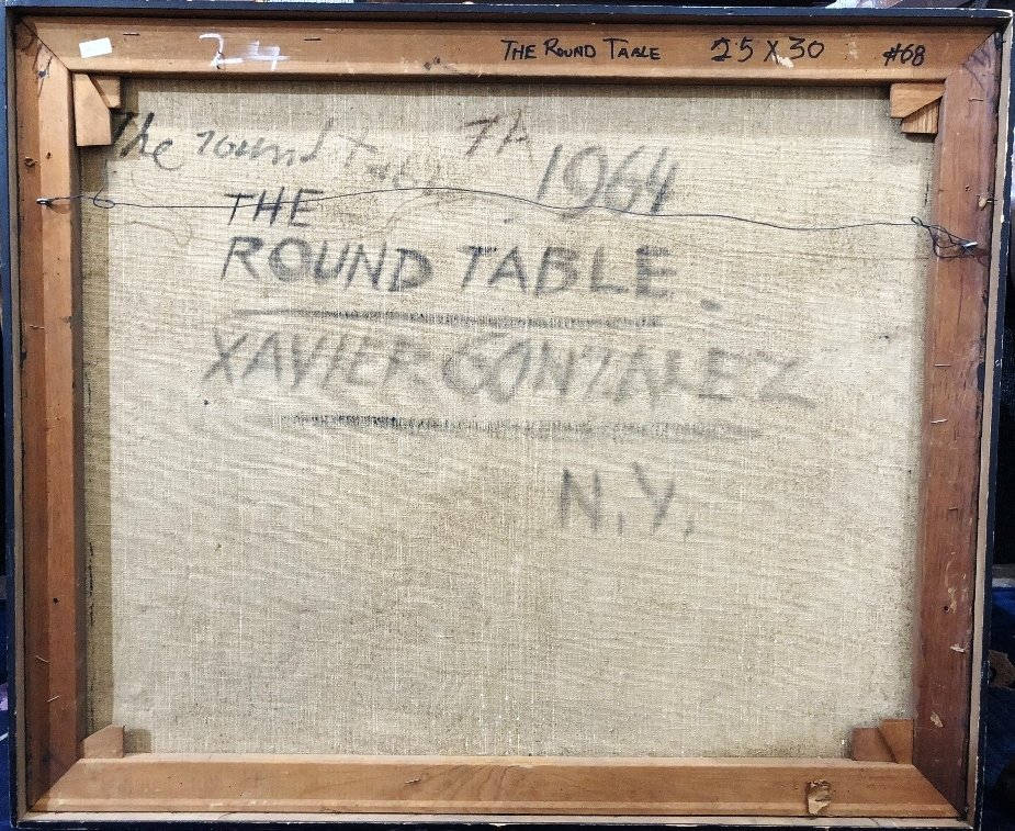 "Xavier Gonzales painting of ""The Round Table"" - 5"
