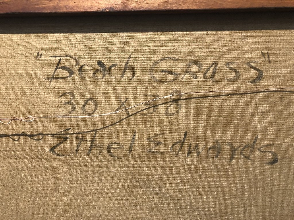 """Beach Grass"" painting by Ethel Edwards - 3"