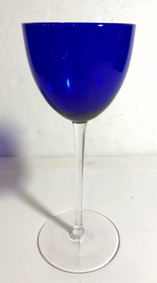 Ten Baccarat colored wine glasses - 3