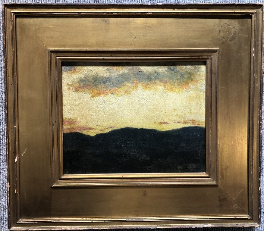 New Hampshire sunset by William R Derrick,19th century