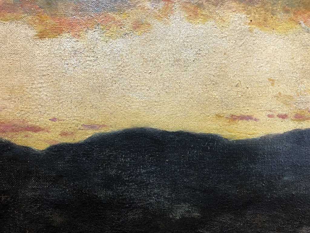 New Hampshire sunset by William R Derrick,19th century - 3