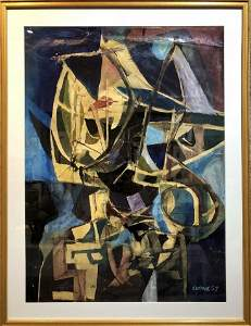 Magnificent abstract painting, Roy Turner Durrant 1957