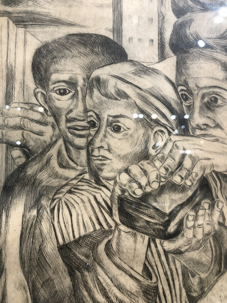"""Litho of crowd, signed """"Lila 1948"""" or """"Lilo 1948"""" - 7"""
