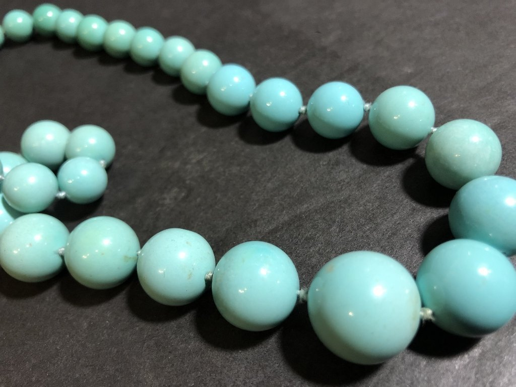 Large turquoise necklace, GIA report, c.1985 - 3