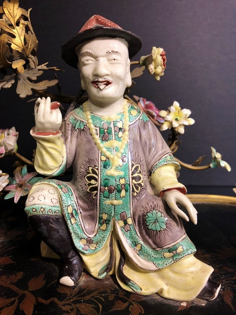 18/19th cen French inkwell, with Chinese figure - 9