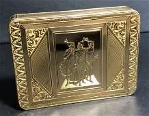 19th century 18k gold box, European, 69 dwts