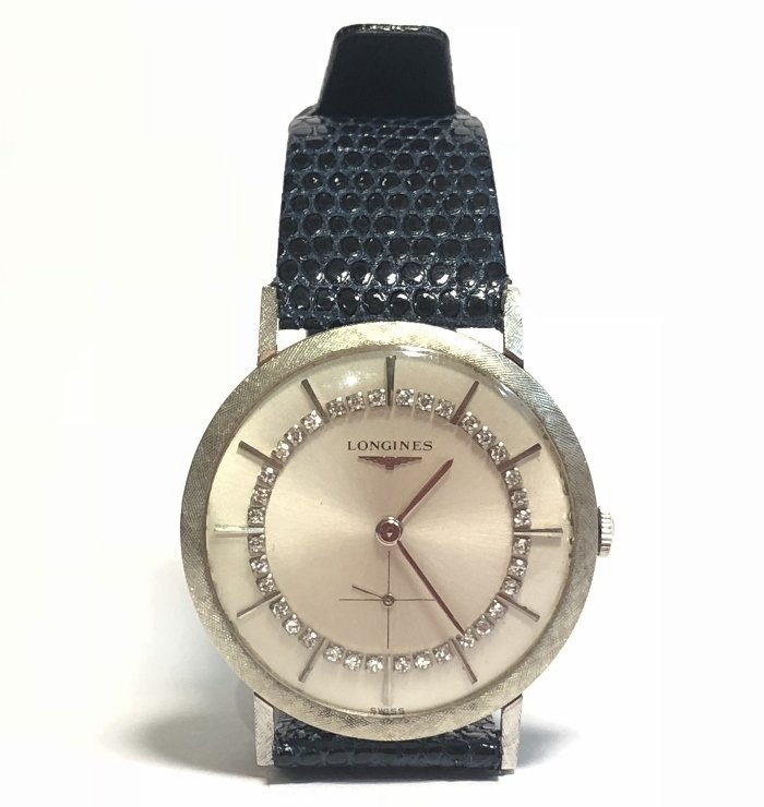 14k diamond Longines watch, c.1965
