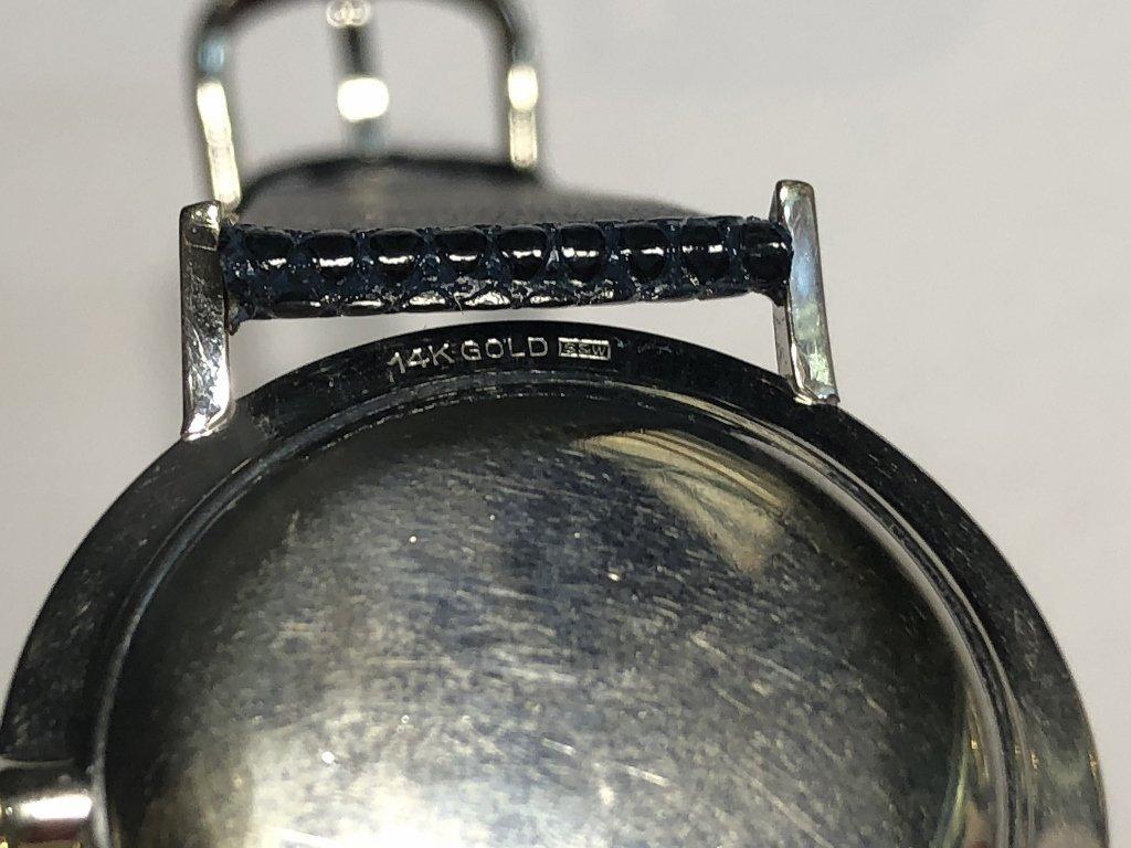 14k diamond Longines watch, c.1965 - 8
