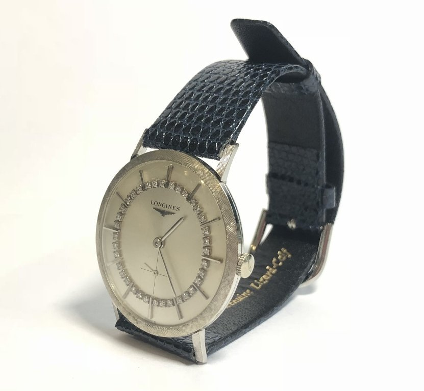 14k diamond Longines watch, c.1965 - 9