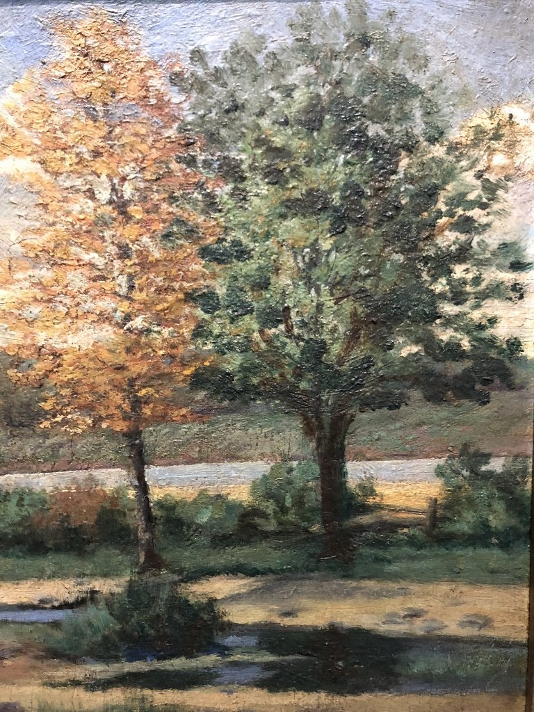 Ptg of trees by J.W.Hurrell Watts(Canadian 19th) - 3