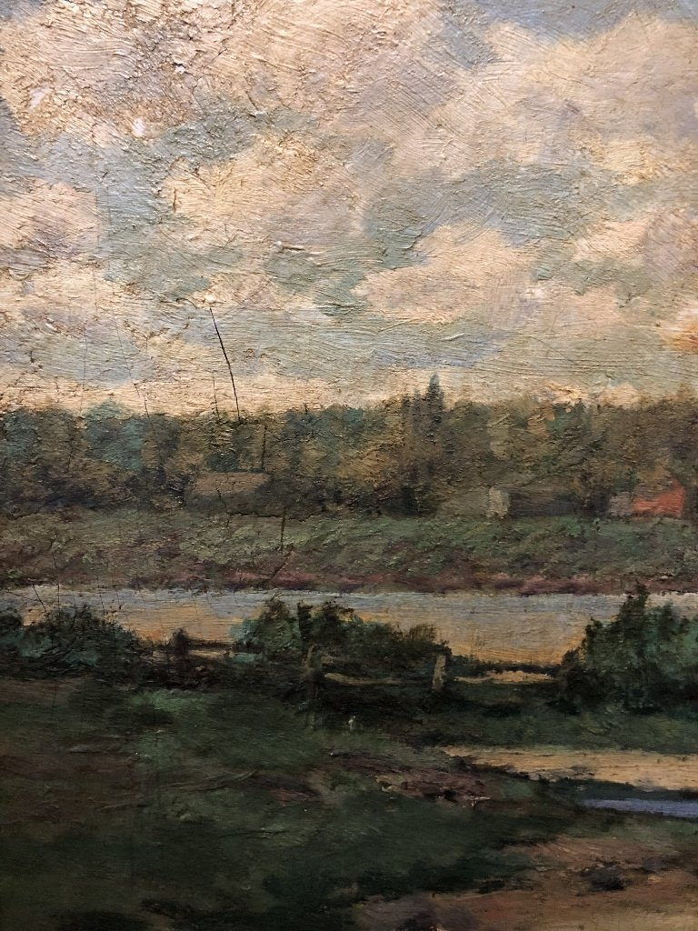 Ptg of trees by J.W.Hurrell Watts(Canadian 19th) - 4