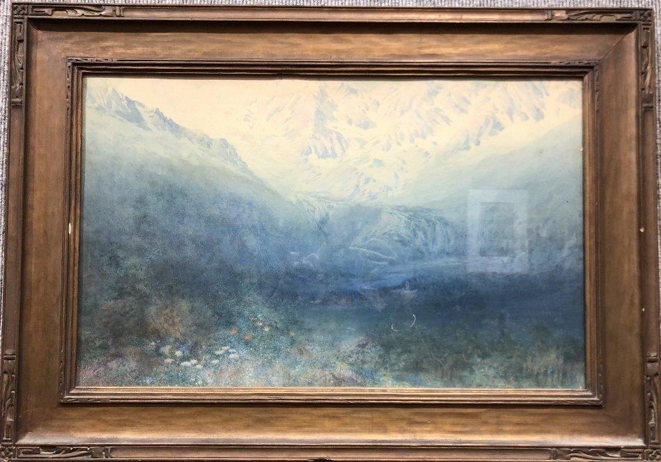 Watercolor of valley, by George Elbert Burr,c.1880
