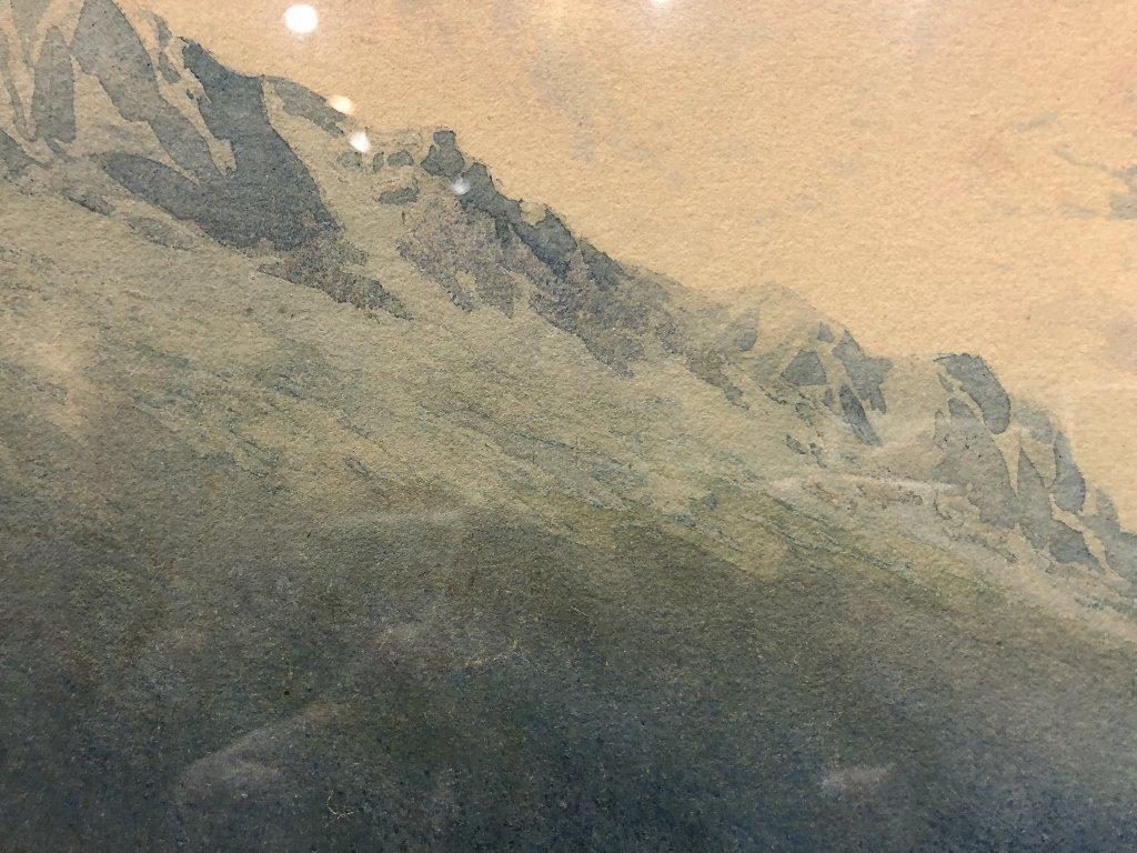 Watercolor of valley, by George Elbert Burr,c.1880 - 5